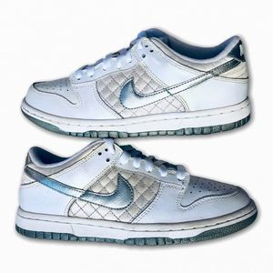 Nike SB Dunk Low Women 6 Shoe White AF1 Silver Vtg